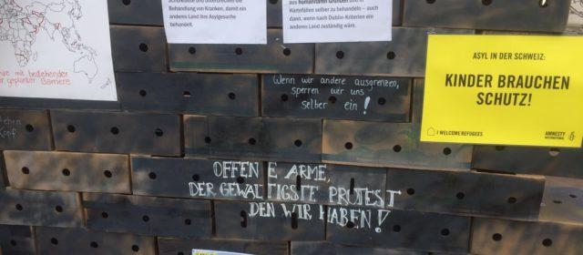 Schützen Sie die verletzlichen Flüchtlinge! – Aktion auf dem Casinoplatz Bern