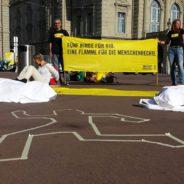 Strassenaktion Stopp Polizeigewalt in Brasilien