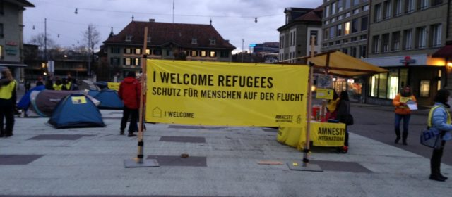 Solidaritätsaktion für die Flüchtlinge in Griechenland